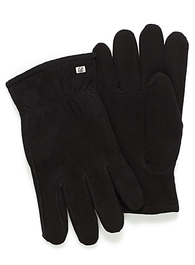 Essential lined suede gloves