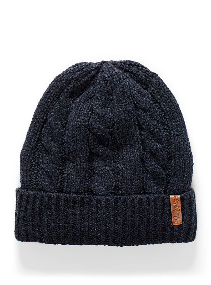 Cable and rib tuque
