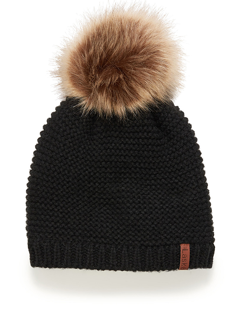 Rib-knit tuque - Tuques & Berets - Black