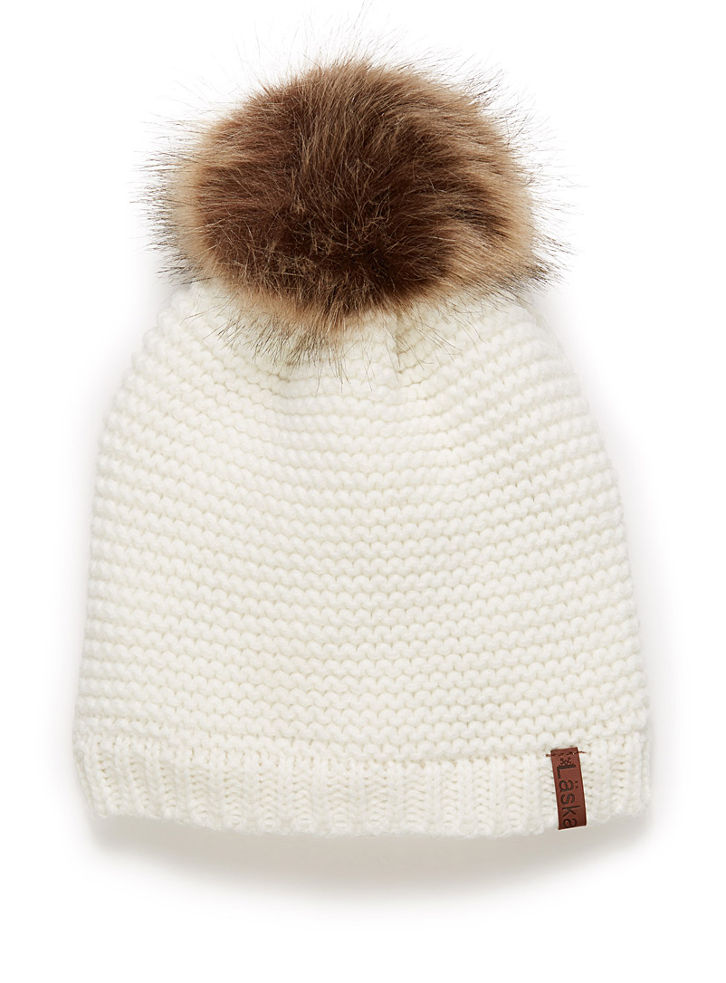 Ribbed knit tuque - Tuques & Berets - White