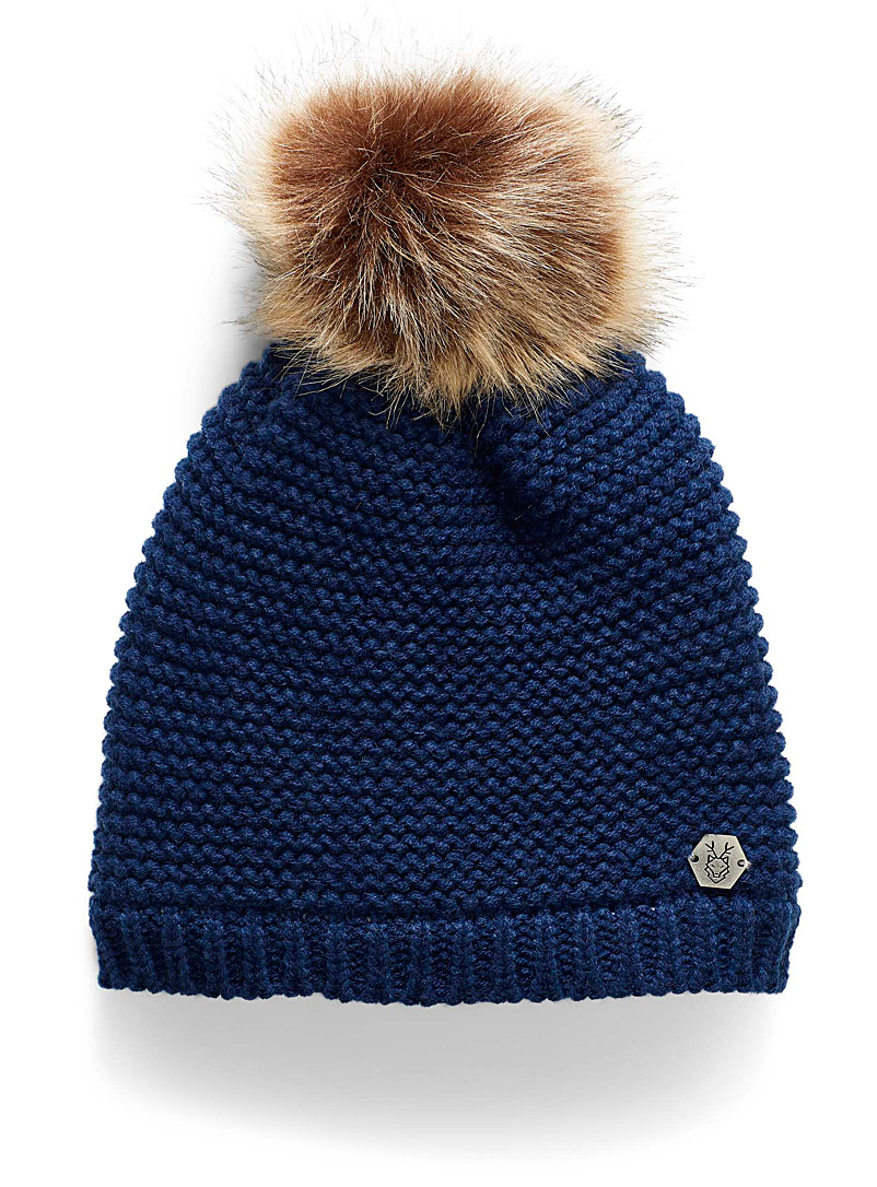 Rib-knit tuque - Tuques & Berets - Marine Blue