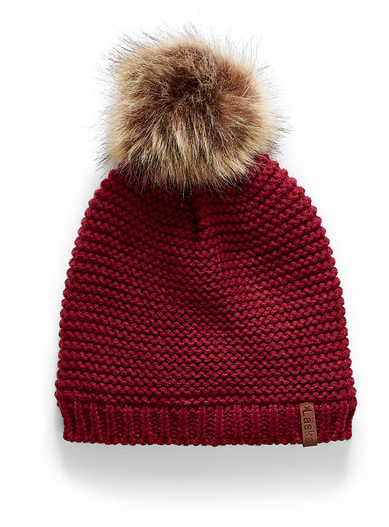Ribbed knit tuque - Tuques & Berets - Ruby Red