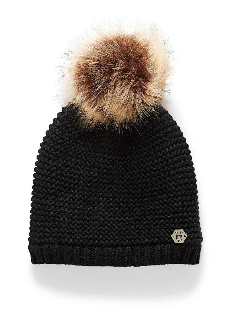 Monochrome knit tuque
