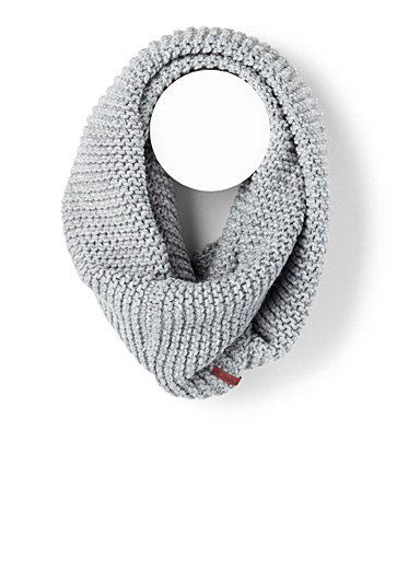 Textured-knit infinity scarf