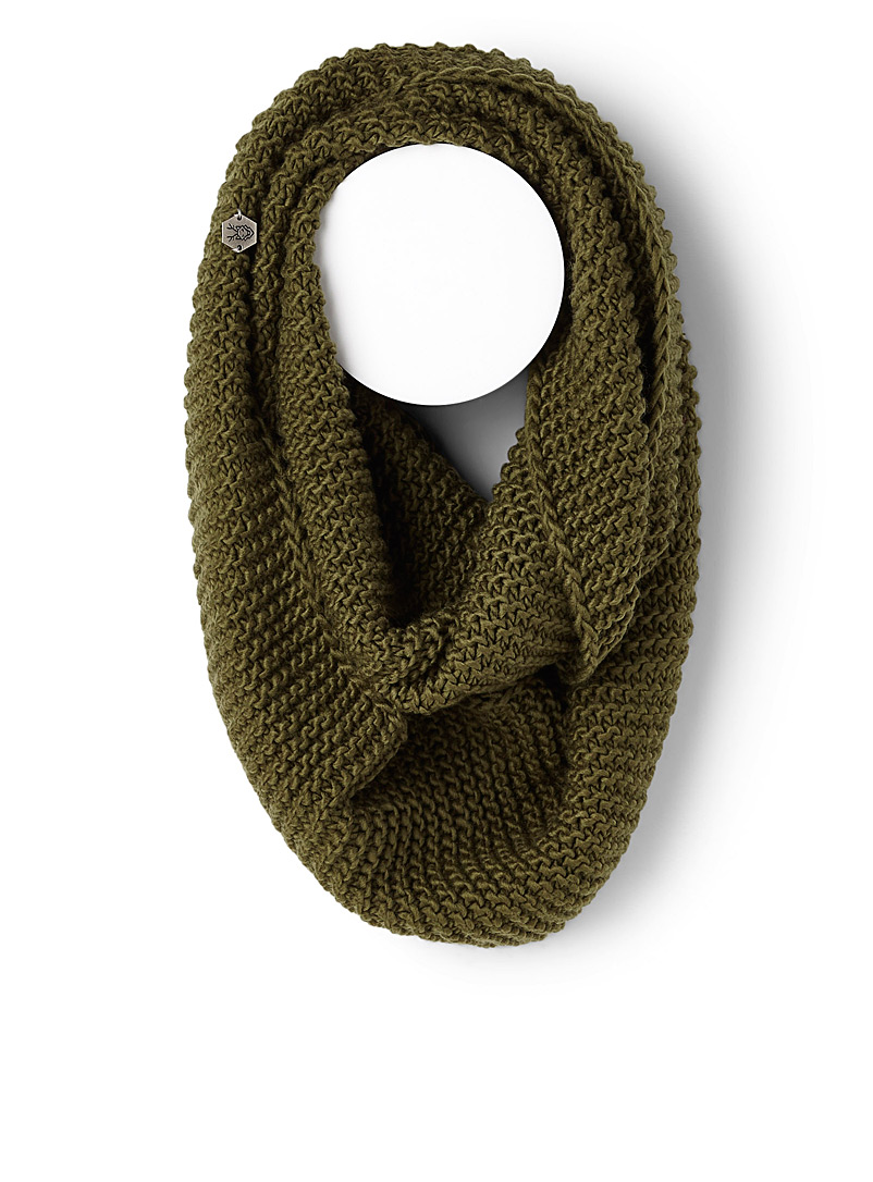 Cable knit infinity scarf - Snoods - Mossy Green