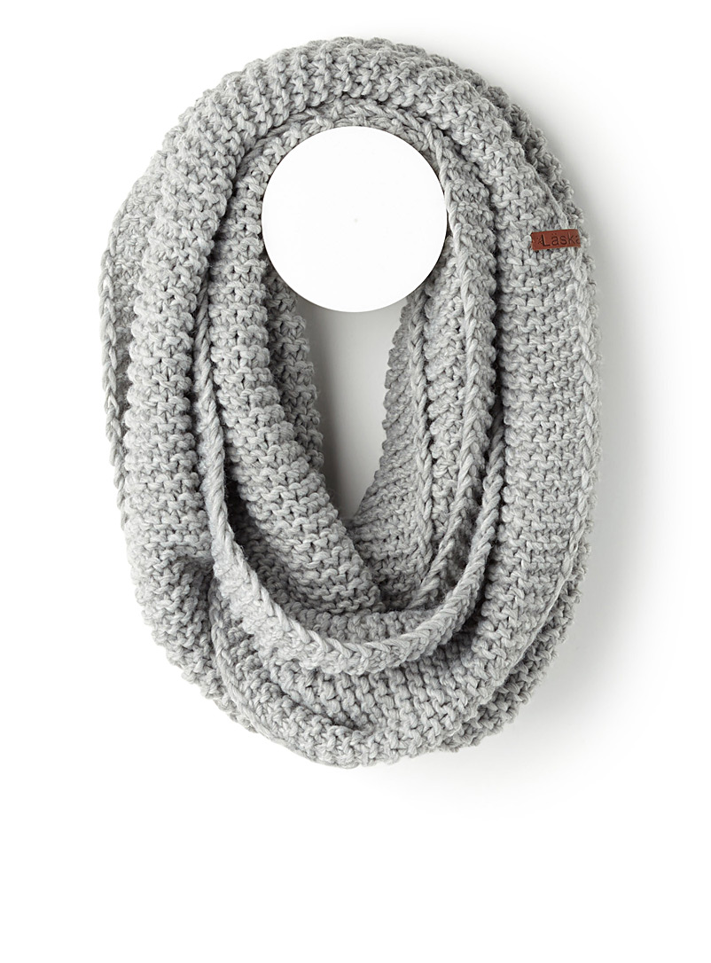 Cable knit infinity scarf - Snoods - Silver
