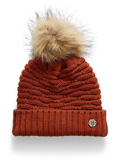 Lined rib-knit tuque