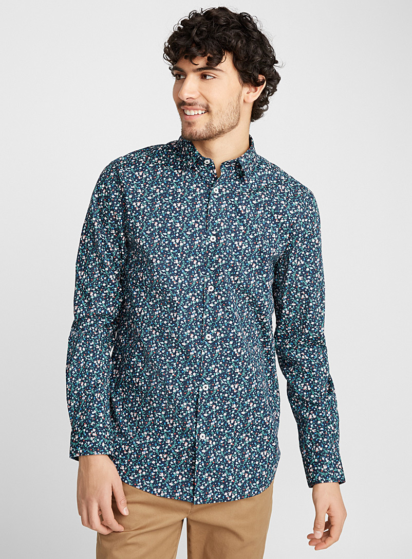 La chemise panorama floral  Coupe moderne - Motifs - Marine