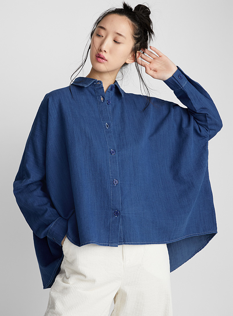 oversized-indigo-denim-shirt