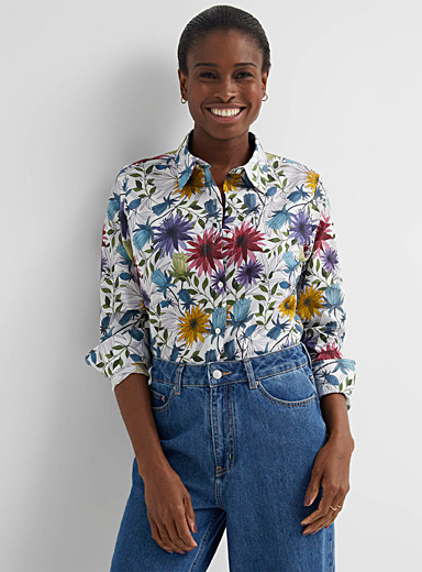 Pretty pattern voile shirt