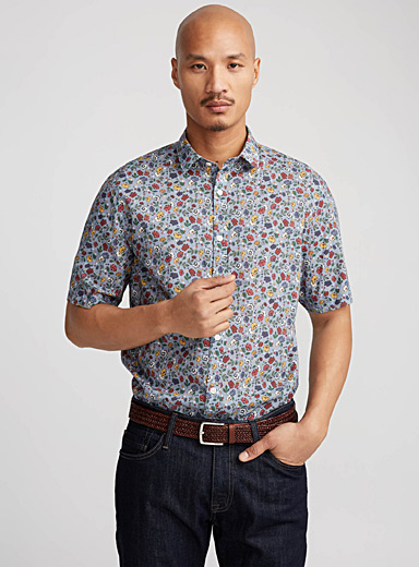 Ultralight floral shirt  Semi-tailored fit