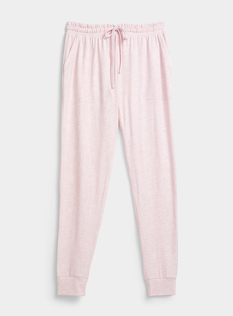 Danskin Dusky Pink Heathered joggers for women