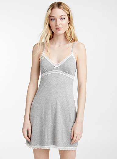 Lace neck nightie