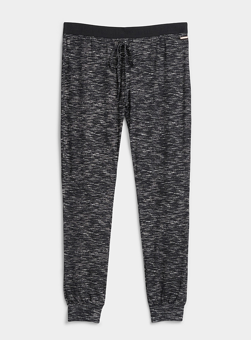 Miiyu Dark Grey Peachskin heather joggers for women