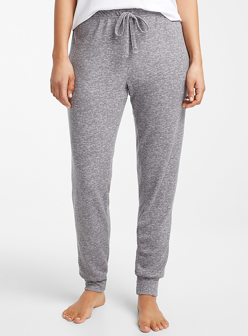 Miiyu Grey Ultra soft heathered joggers for women