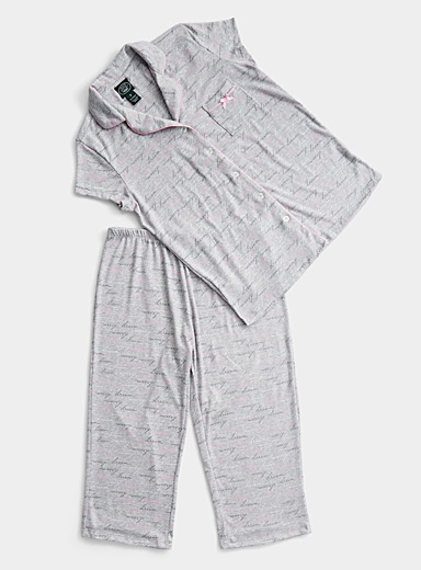 Laura Ashley Patterned Grey Sweet dreams pyjama set for women