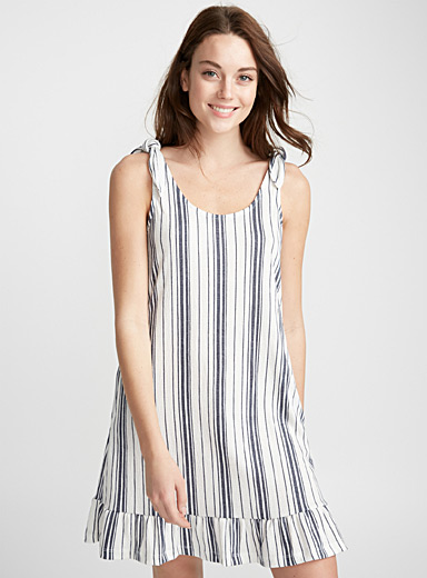 Mediterranean stripe nightie