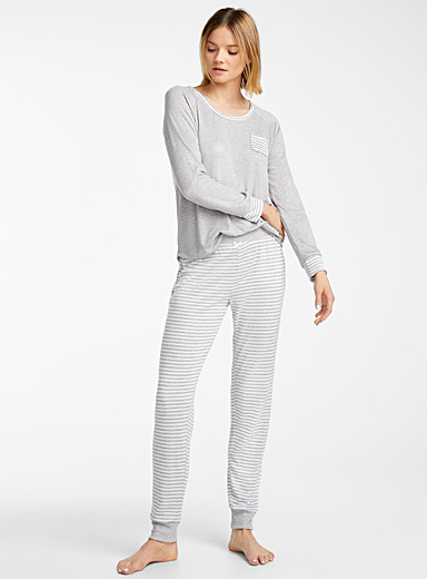 Striped grey pyjama set