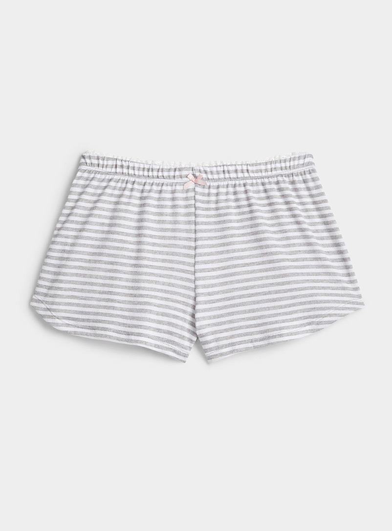 Miiyu Patterned Grey Soft print boxer for women