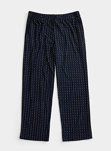 Miiyu Patterned Blue Dot and flower pant for women