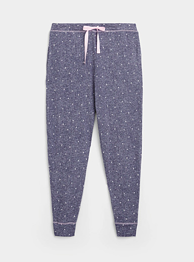 Dotted ribbed joggers