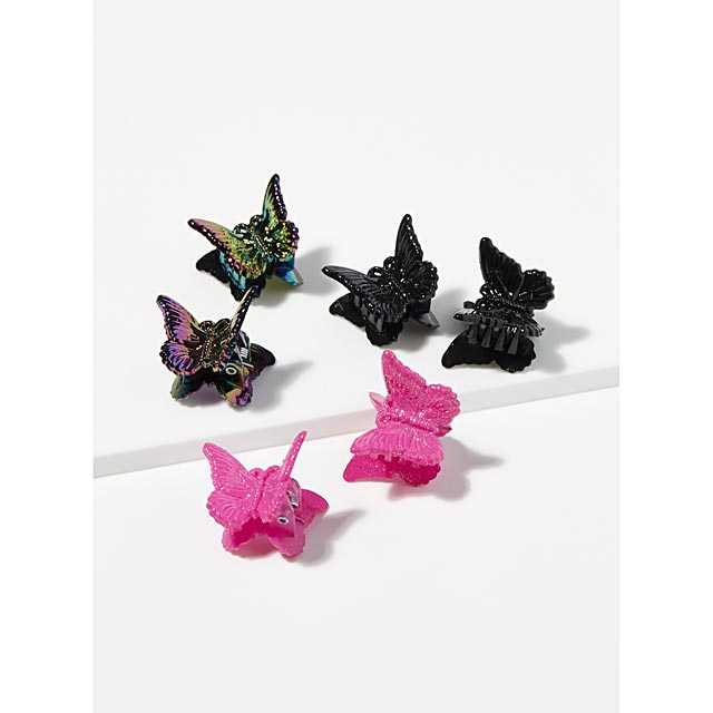 retro-butterfly-clips-set-of-6