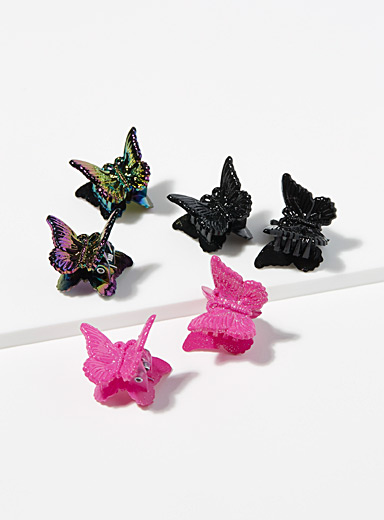 Retro butterfly clips <br>Set of 6