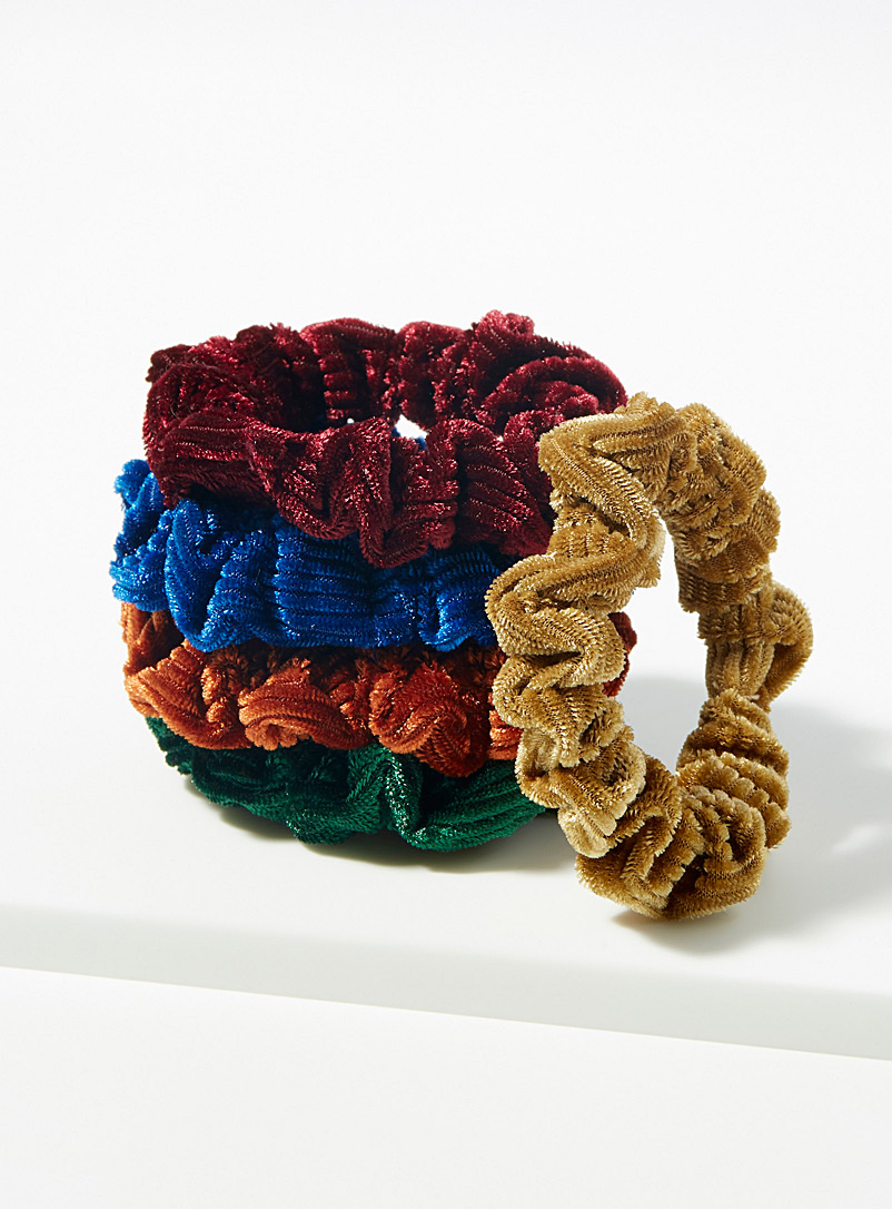Corduroy scrunchies  Set of 5 - Scrunchies - Assorted