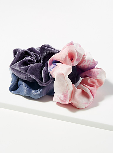 Mixed media scrunchies  Set of 3