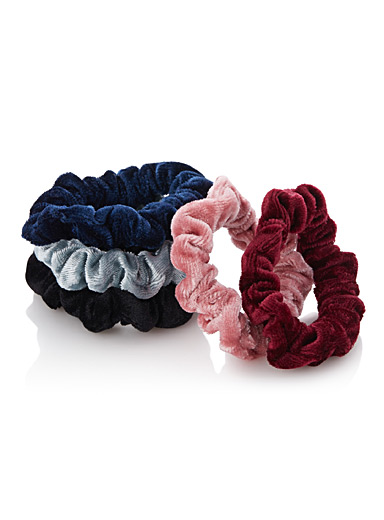 Twisted velvet elastics  Set of 5