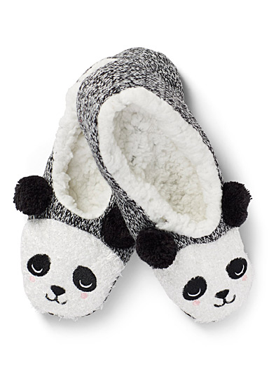 Sleeping panda slippers