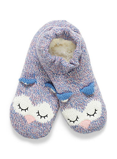 Sleeping owl slippers