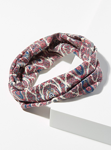 Simons Assorted Wide paisley headband for women