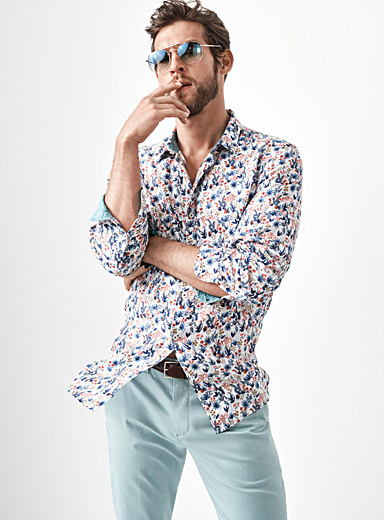 Premium linen floral shirt  Semi-tailored fit