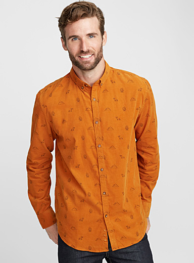 Outdoors corduroy shirt  Semi-tailored fit