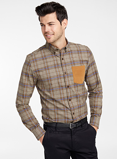 Heritage pocket check shirt  Modern fit