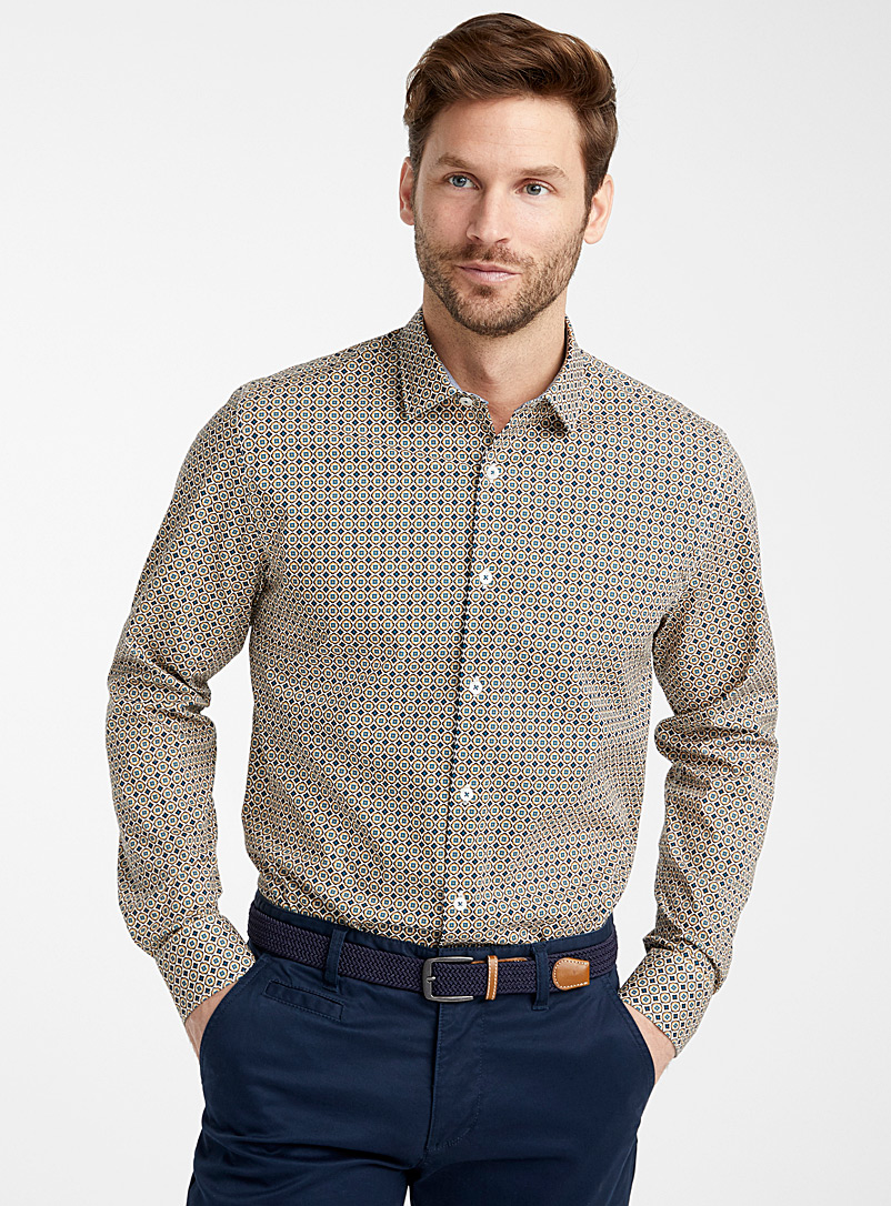 Organic cotton medallion shirt  Modern fit