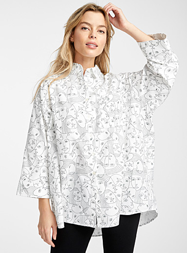 Patterned loose shirt