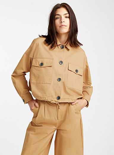 Brushed cotton utility jacket