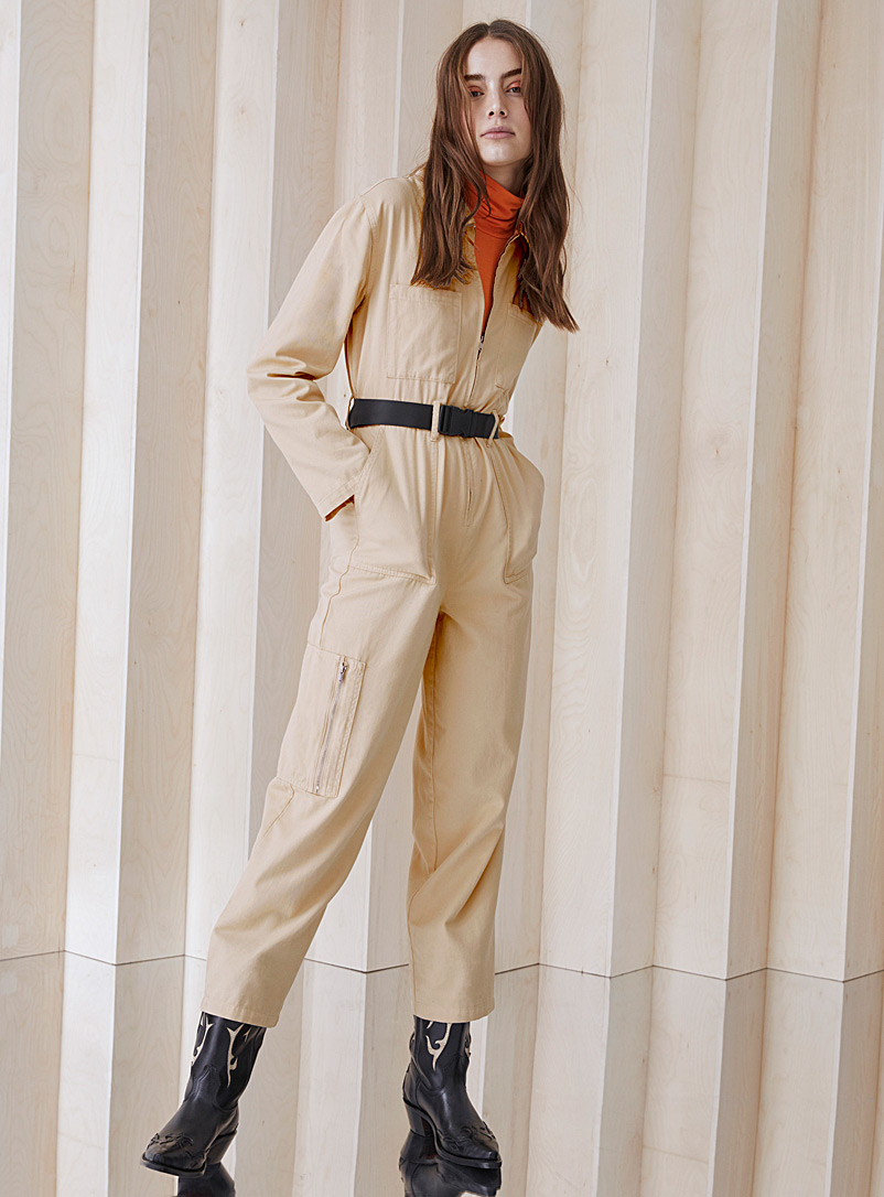 Icône Sand Organic cotton worker jumpsuit for women