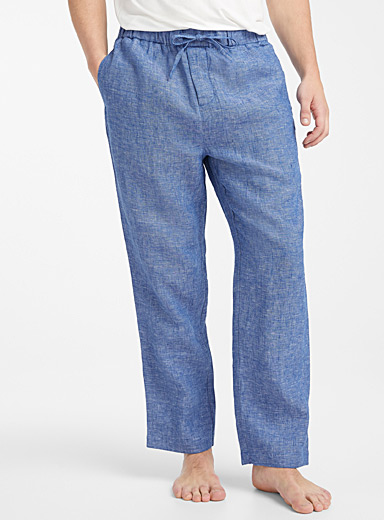 Heathered linen lounge pant
