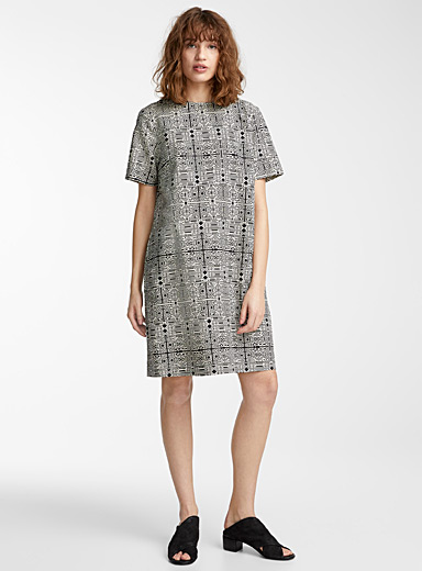 Graphic mosaic shift dress  Caroline Monnet