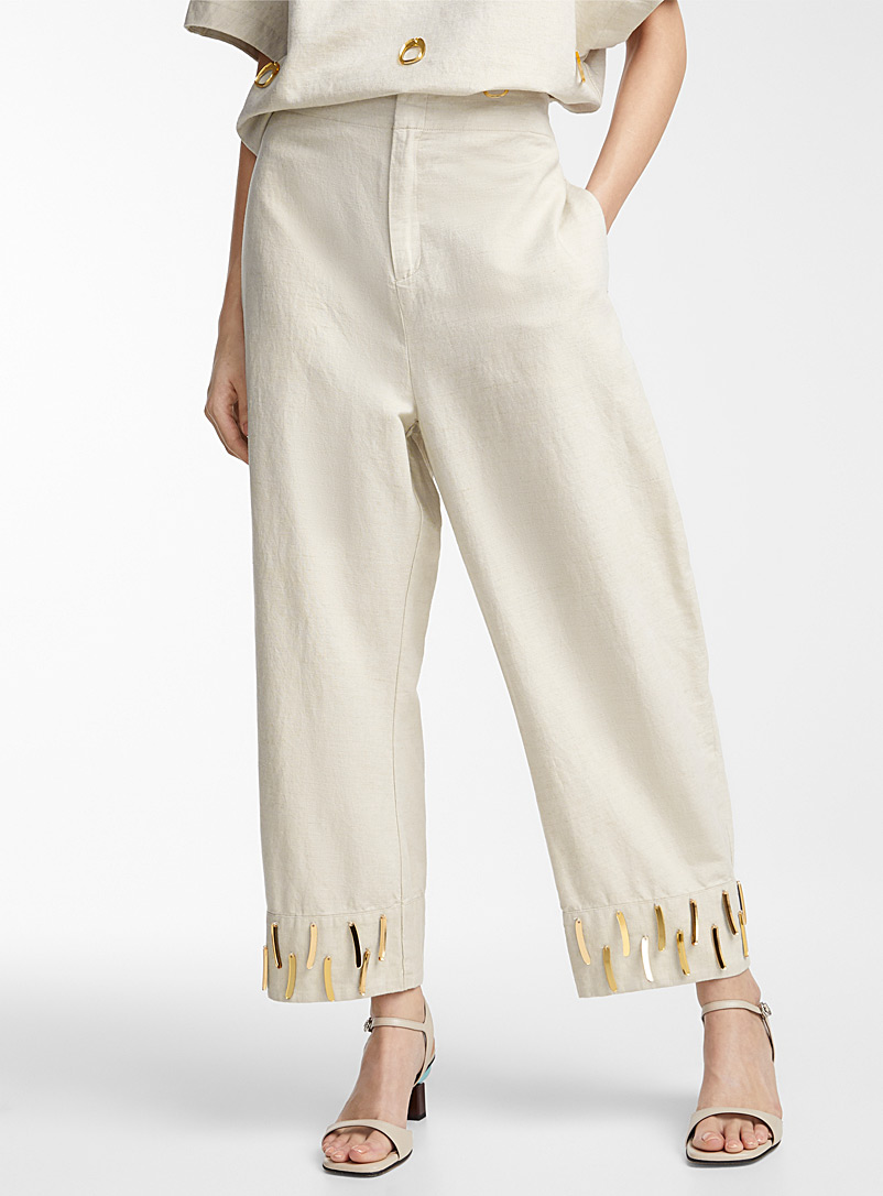 Acrylic gem loose pant  Warren Steven Scott