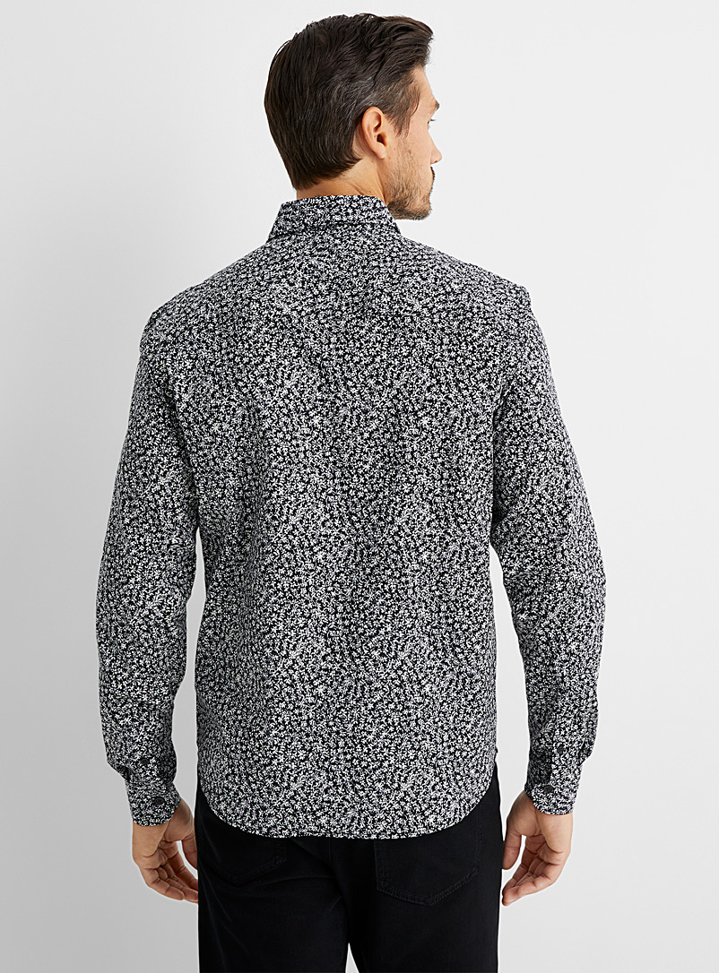 Le 31 Pink Floral-print shirt Untucked fit for men