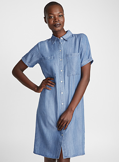 La robe chemisier denim lyocell