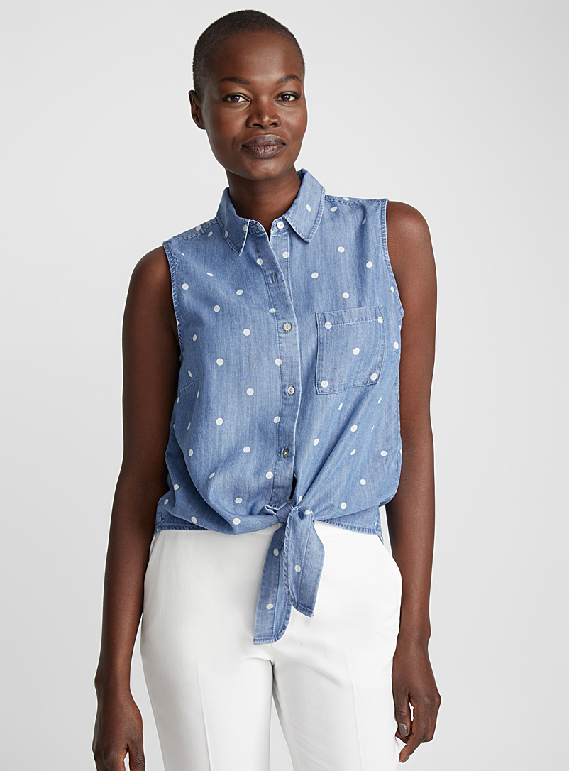 le-chemisier-denim-lyocell-taille-nouee