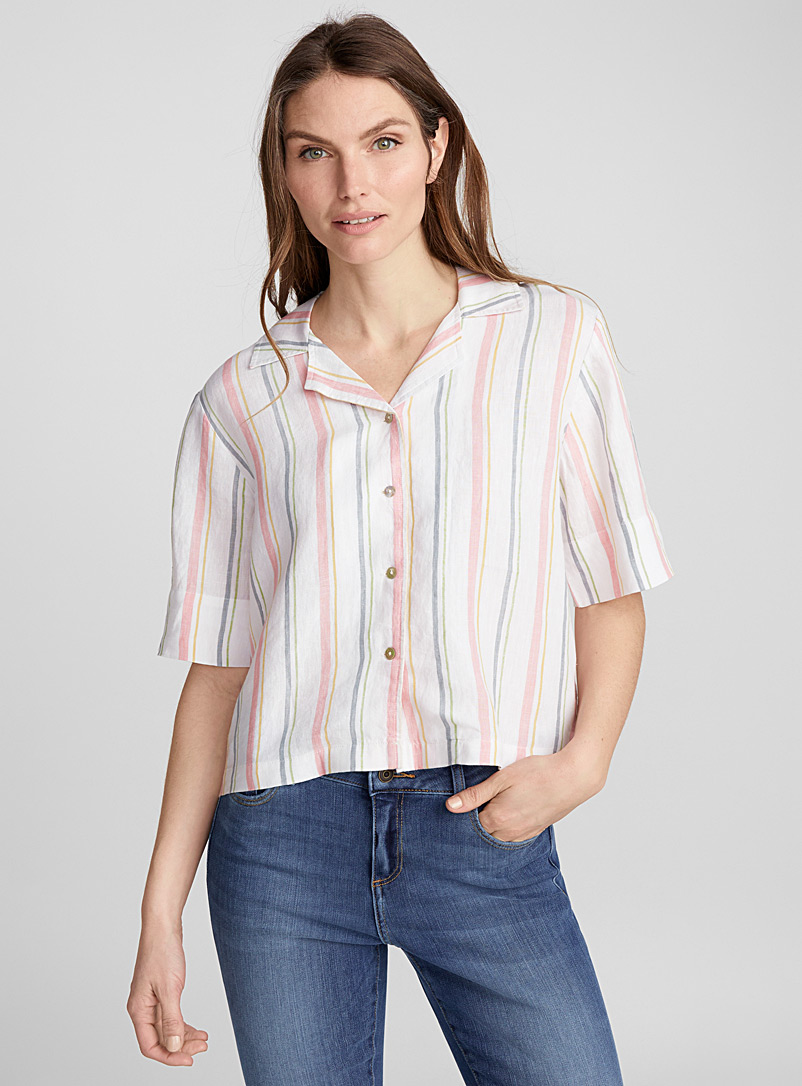 Boxy pure linen shirt - Blouses - Assorted