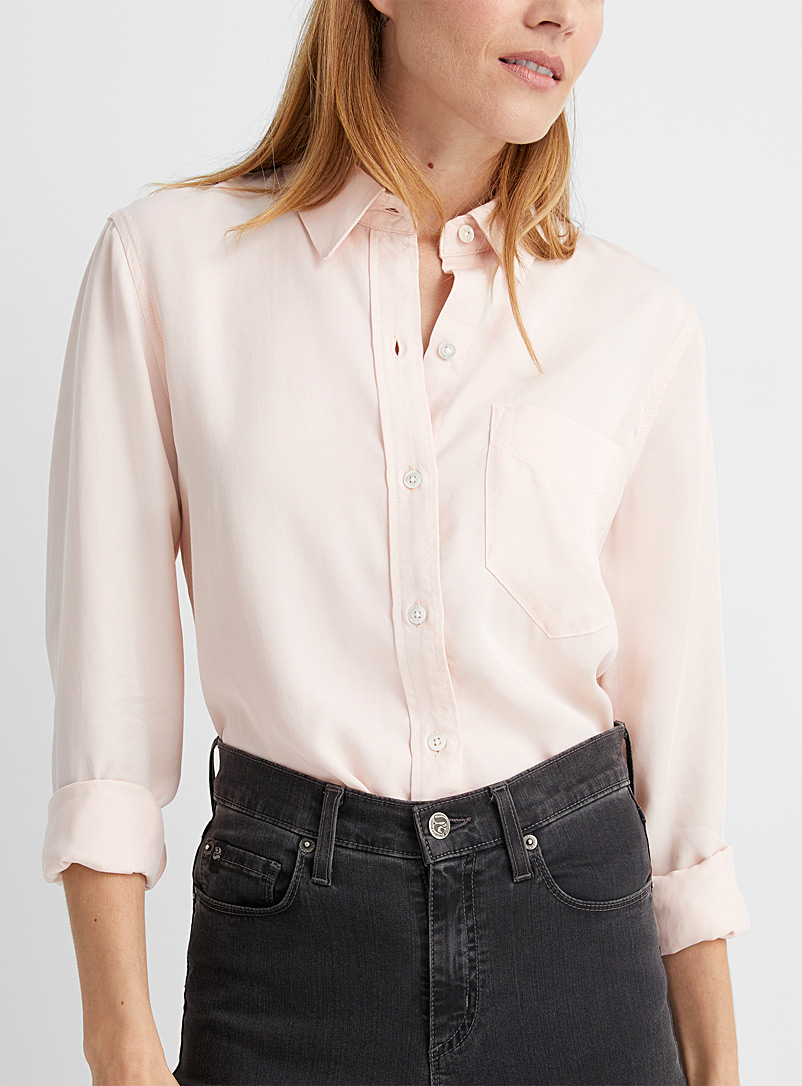 Contemporaine Pink Lyocell denim shirt for women