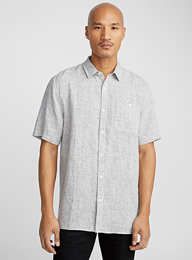 End-on-end premium linen shirt  Comfort fit