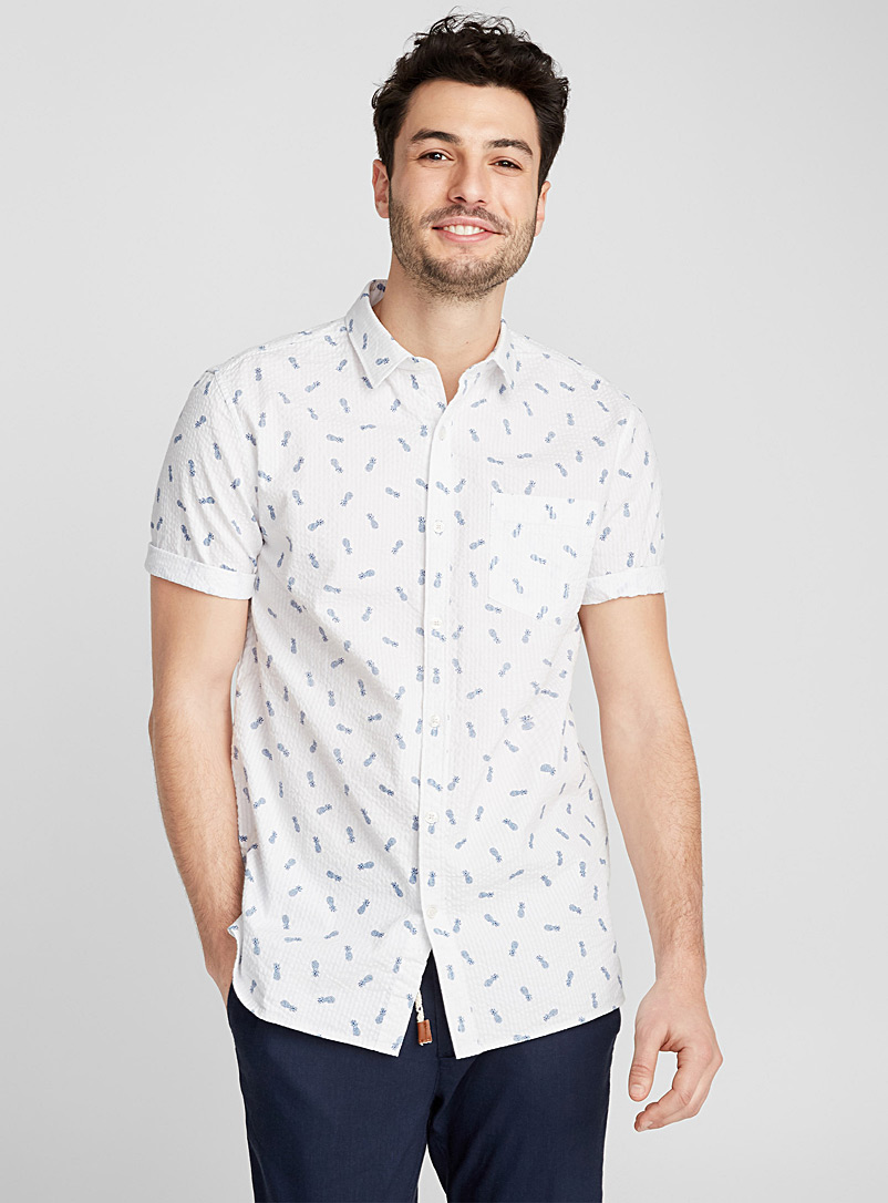 Exotic shirt  Semi-tailored fit - Patterns - Patterned White